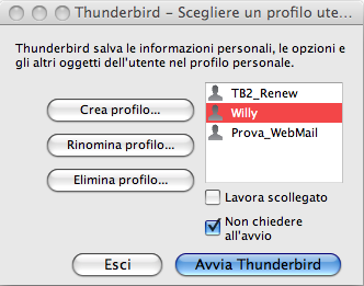 how to open thunderbird profile manager